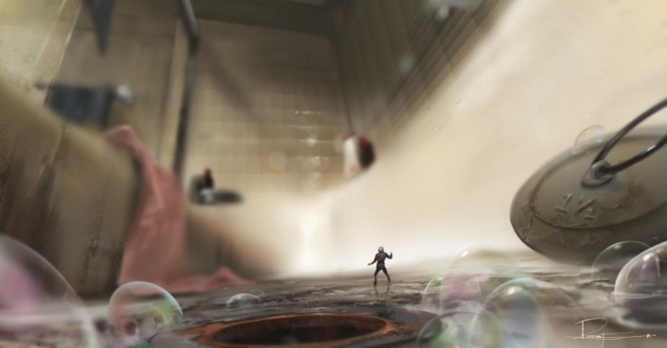 """Arte conceitual do filme """"Homem-Formiga"""""""