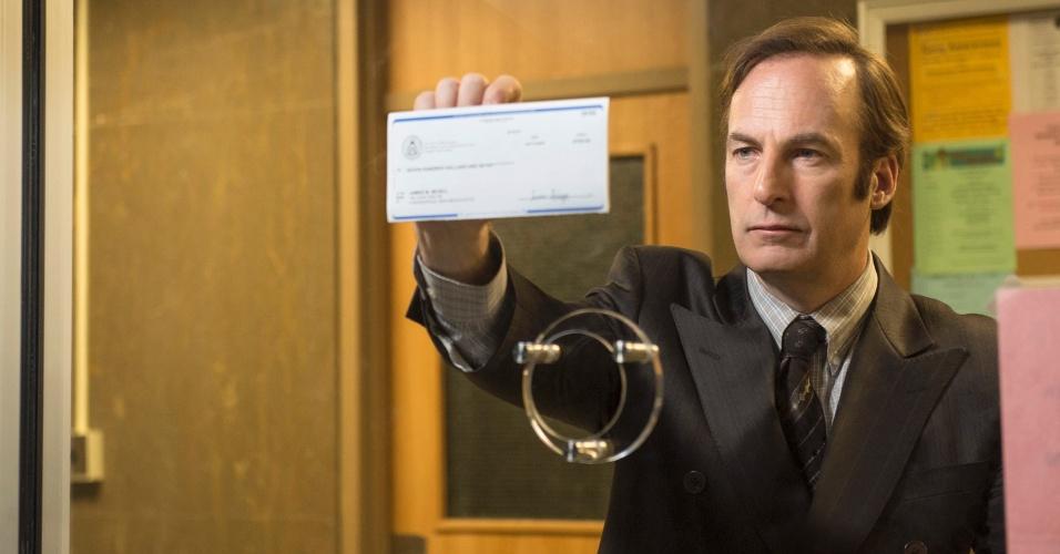 """Bob Odenkirk como Saul Goodman na série """"Better Call Saul"""""""