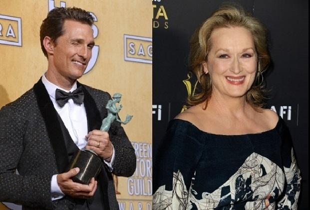 Matthew McConaughey e Meryl Streep estão entre os apresentadores do Globo de Ouro 2015