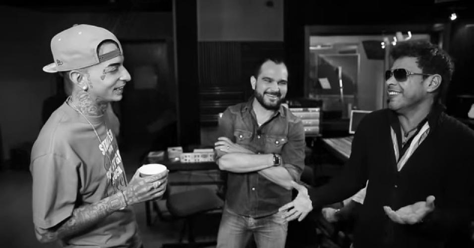 MC Guime junto com Zezé Di Camargo & Luciano no clipe de