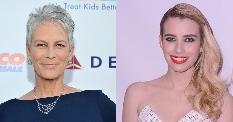 """Jamie Lee Curtis e Emma Roberts estão no elenco da série """"Scream Queens"""""""