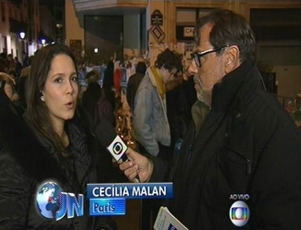 """Cecília Malan foi entrevistada pelo colega André Azevedo no """"Jornal Nacional"""""""