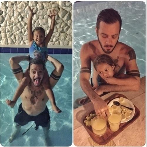 Max Porto e sua filha Luna
