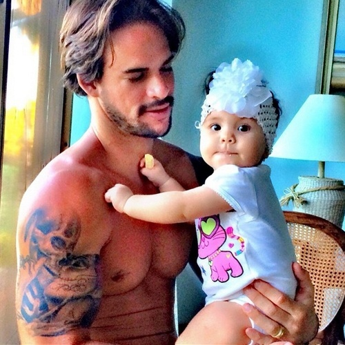 Rodrigo e sua filha Valentina