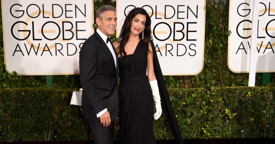 2397429ea440f Clooney se declara para Amal e usa smoking de casamento no Globo de Ouro -  Entretenimento - BOL Notícias