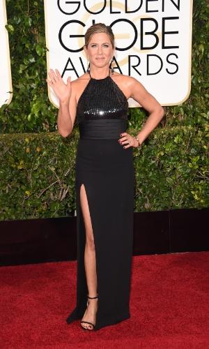 """11.jan.2015 - Jennifer Aniston concorre na categoria melhor atriz em drama pelo filme """"Cake"""""""