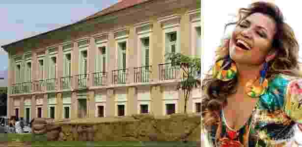 Casa das Onze Janelas e a cantora Gaby Amarantos, que indica a construção histórica como passeio imperdível em Belém do Pará - Marcelo Soares/UOL / Divulgação - Marcelo Soares/UOL / Divulgação