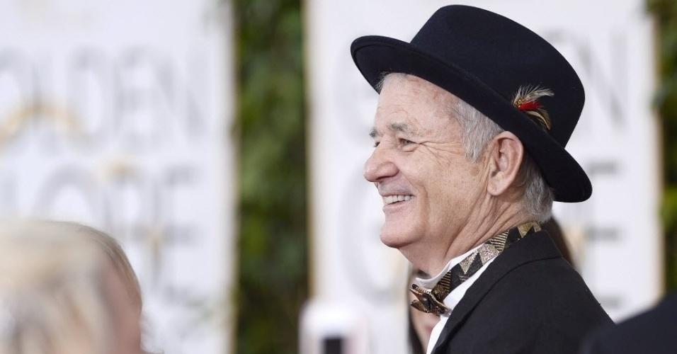 """11.jan.2015 - Bill Murray, indicado ao prêmio de melhor ator de comédia ou musical por sua atuação em """"Um Santo Vizinho"""""""