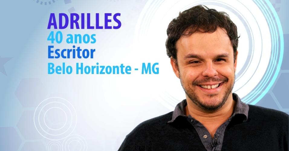 """Adrilles Jorge, 40 anos, escritor de Belo Horizonte (MG), é participante do """"BBB15"""""""