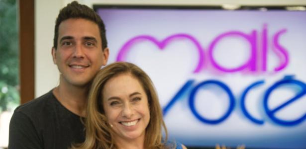 """André Marques e Cissa Guimarães no """"Mais Você"""" - Alex Carvalho/Globo"""