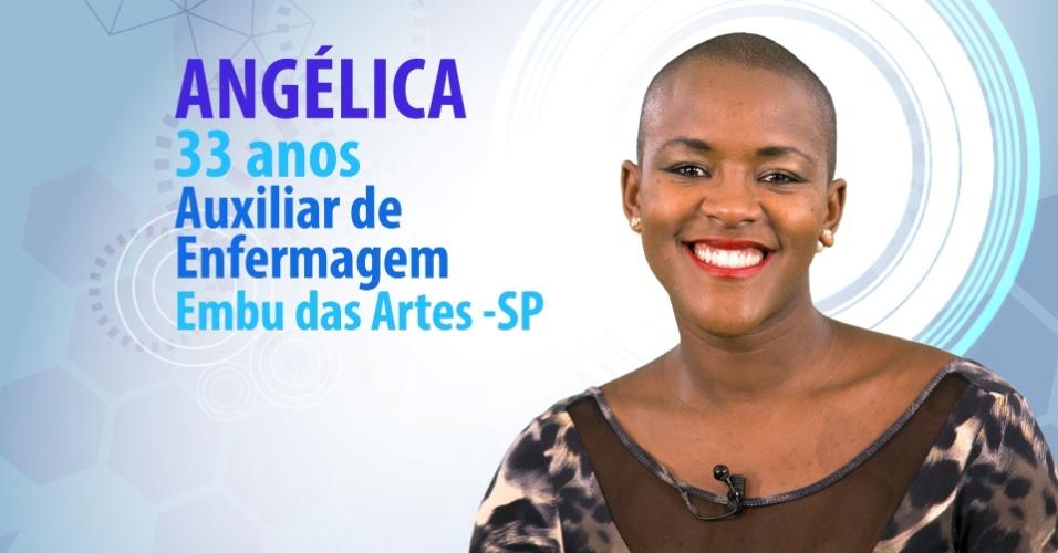 """Angélica Ramos, 33 anos, auxiliar de enfermagem de Embu das Artes (SP), é participante do """"BBB15"""""""