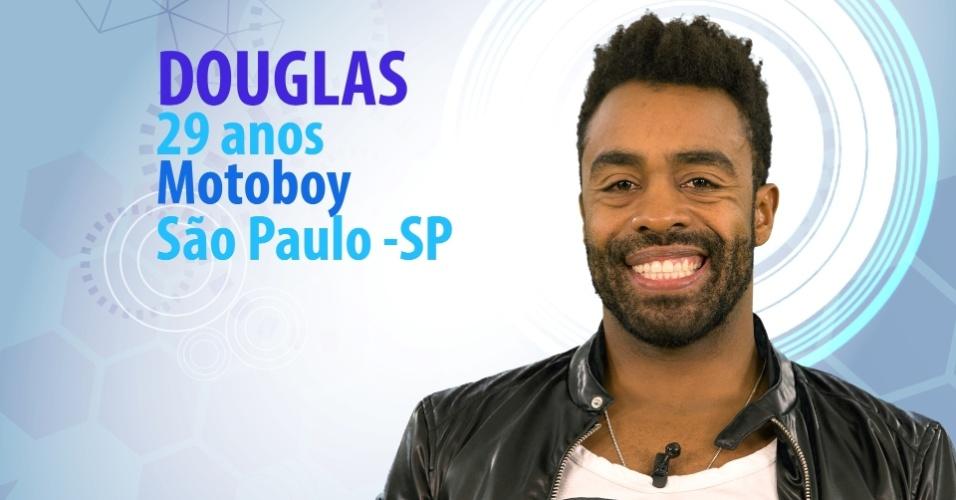 """Douglas, 29 anos, motoboy de São Paulo (SP), é participante do """"BBB15"""""""