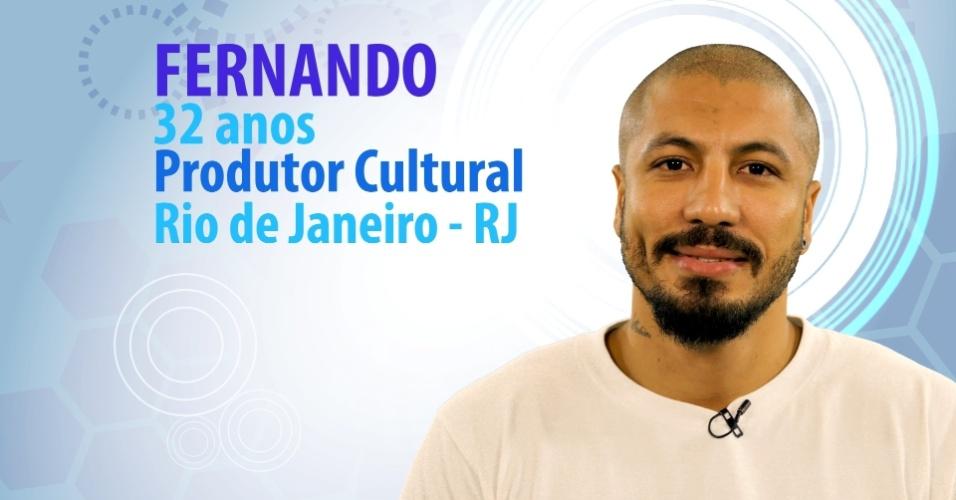 """Fernando Medeiros, 32 anos, produtor cultural do Rio de Janeiro (RJ), é participante do """"BBB15"""""""