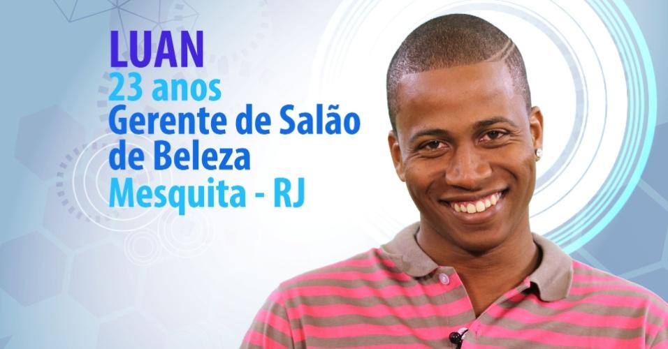 "Luan Patricio, 23 anos, gerente de salão de beleza de Mesquita (RJ), é participante do ""BBB15"""