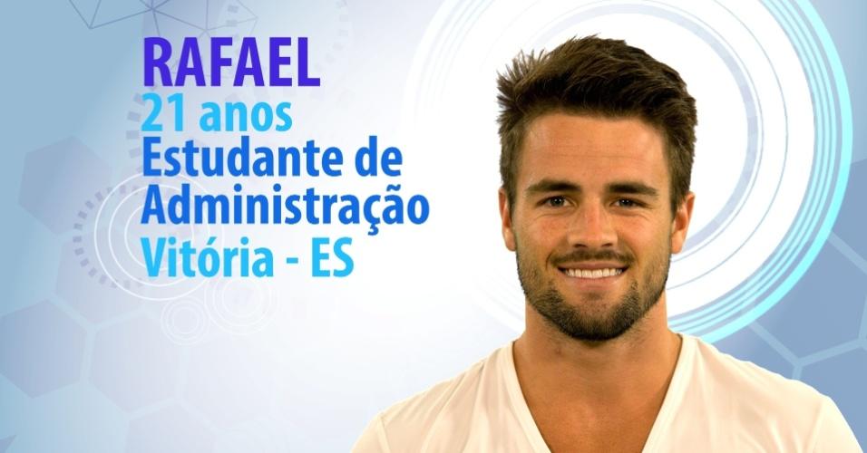 """Rafael Licks, 21 anos, estudante de administração de Vitória (ES), é participante do """"BBB15"""""""