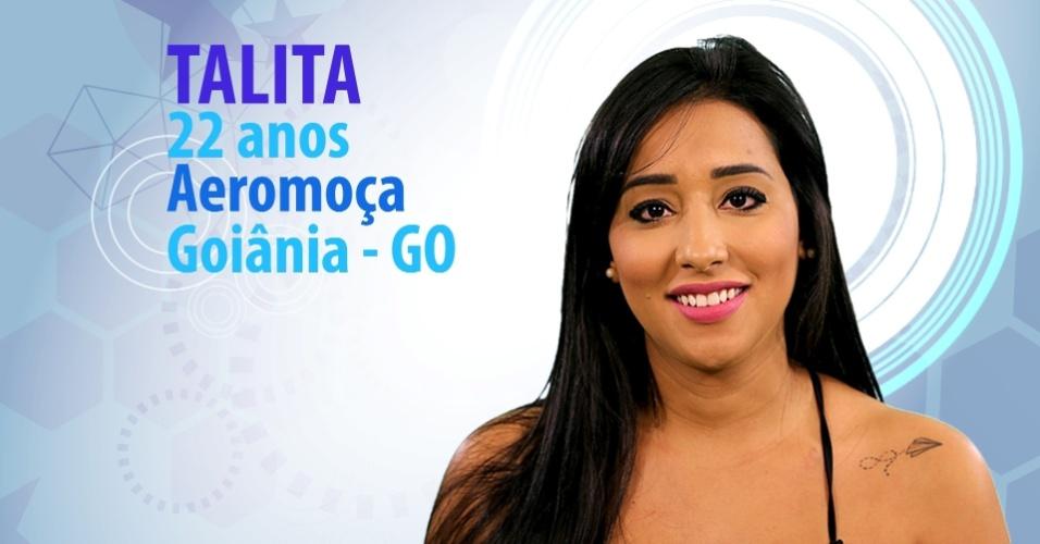 """Talita, 22 anos, aeromoça de Goiânia (GO), é participante do """"BBB15"""""""
