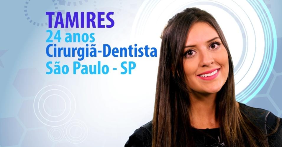 """Tamires Peloso, 24 anos, cirurgiã-dentista de São Paulo (SP), é participante do """"BBB15"""""""