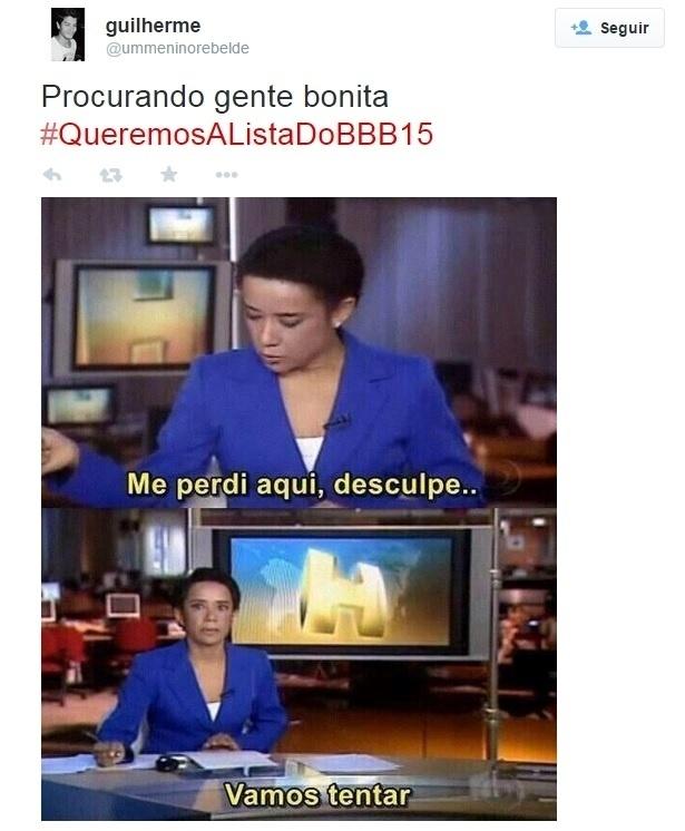 13.jan.2015 - Internautas postam memes do BBB15