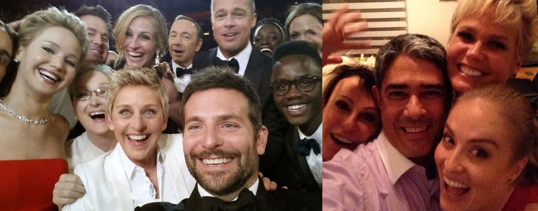 15.jan.2015 - Por fim, além do visual parecido, duas curtem tirar uma selfie.