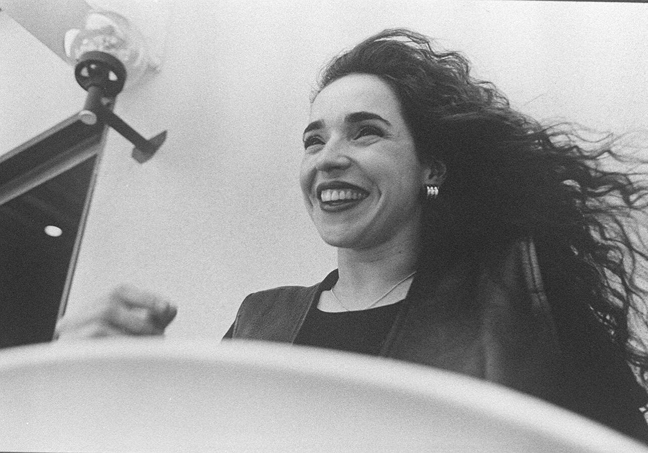Retrato de Daniela Mercury feito em 1994