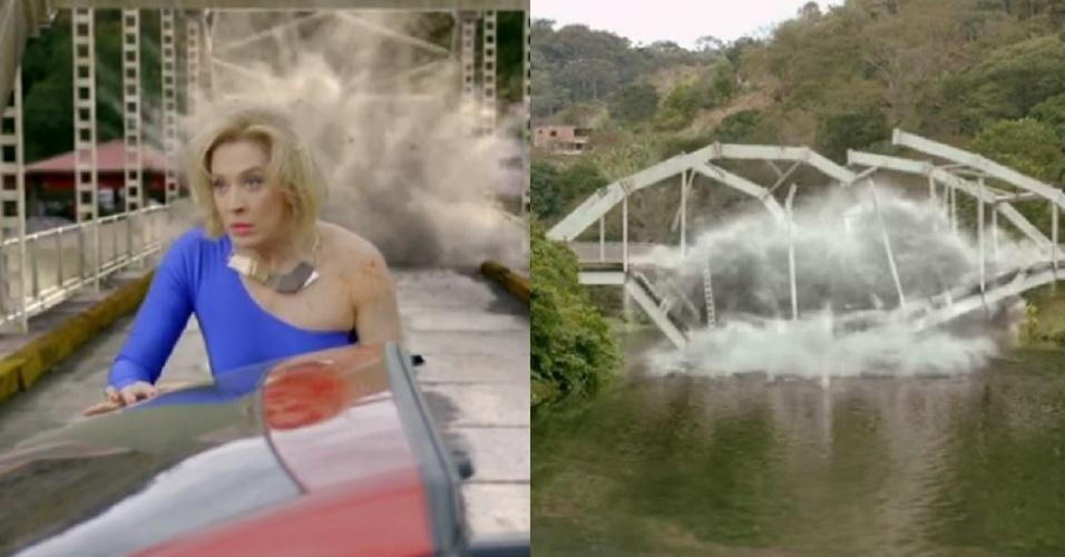 """Explosão da ponte no primeiro capítulo de """"Alto Astral"""""""