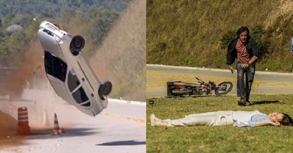 """Laura sofre acidente de carro em """"Alto Astral"""""""