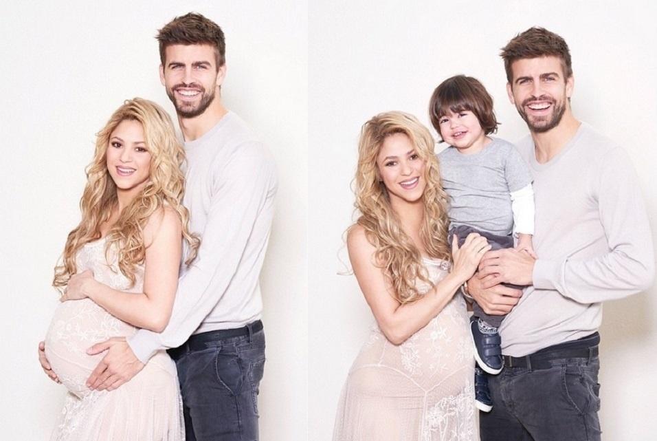 19.jan.2014 - Grávida de seu segundo filha, a colombiana Shakira exibiu o barrigão em duas fotos publicadas em seu perfil no Instagram nesta segunda-feira (19)