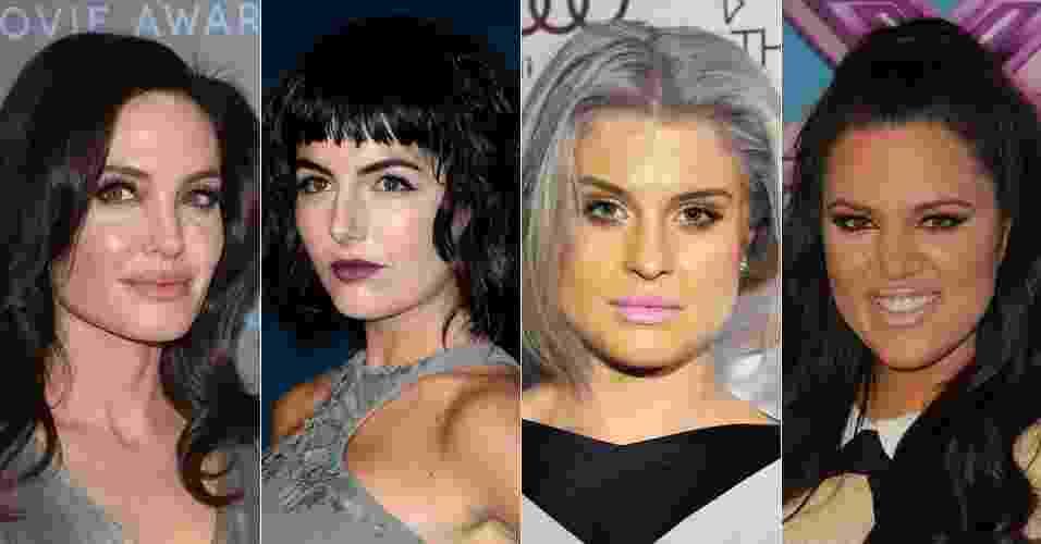 Montagem erros na maquiagem das famosas - Fotomontagem UOL/Divulgação