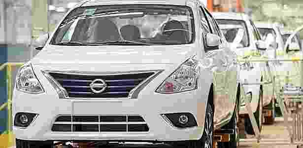 Nissan Versa 2015 na fábrica de Resende (RJ) - Divulgação - Divulgação