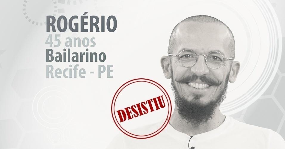 """Rogério Alves, 45 anos, bailarino de Recife (PE), foi anunciado como participante do """"BBB15"""", mas desistiu a três dias da estreia do programa"""