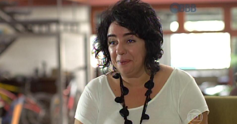 """20.jan.2014 - A pernambucana Mariza fala sobre sua relação com a família na estreia do """"BBB15"""""""
