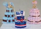 """Monte um """"bolo"""" decorativo feito de fraldas para o chá de bebê - Reinaldo Canato/UOL"""