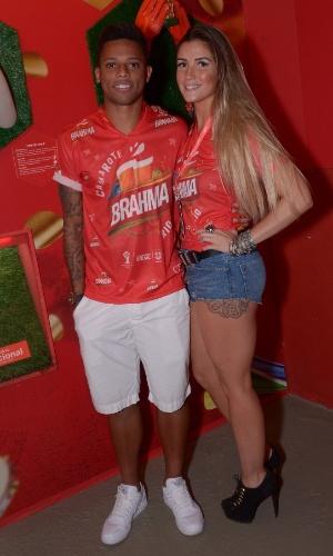 2014 - André e Aline foram fotografados juntos no Camarote Brahma durante o Carnaval 2014 no Rio de Janeiro