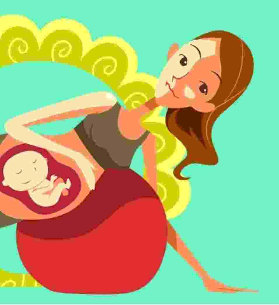álbum com estratégias para a mulher ter um parto natural - Marcos Inoue/Arte UOL