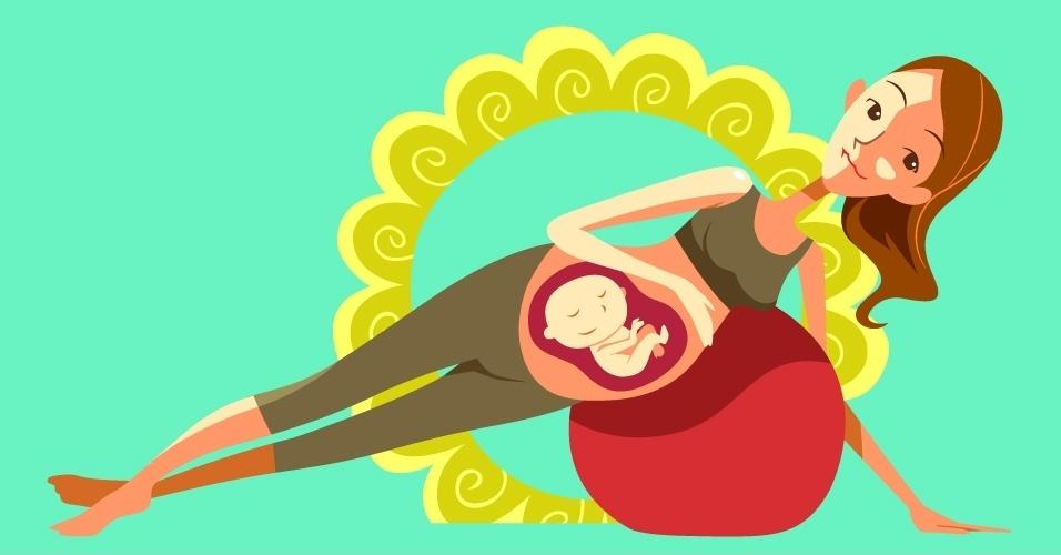 álbum com estratégias para a mulher ter um parto natural