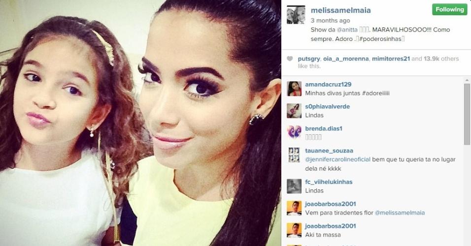 """Out.2014 - Mel Maia tieta Anitta em show especial para o público infantil, dedicado às """"poderosinhas"""""""