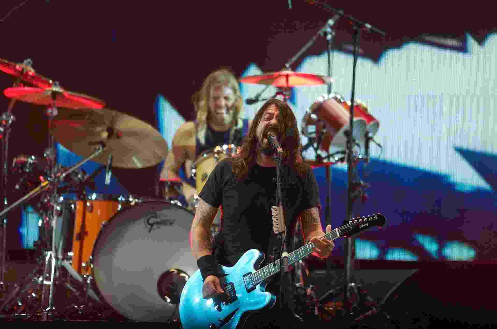 """21.jan.2015 - A banda americana de rock alternativo Foo Fighters abre a turnê de seu oitavo disco, """"Sonic Highway"""", em Porto Alegre, no Rio Grande do Sul, nesta quarta-feira - Reprodução/Flickr/T4F"""