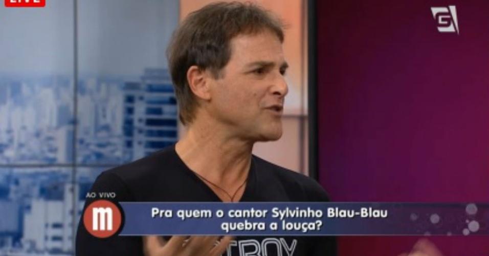 23.jan.2015 - Sylvinho Blau-Blau no programa
