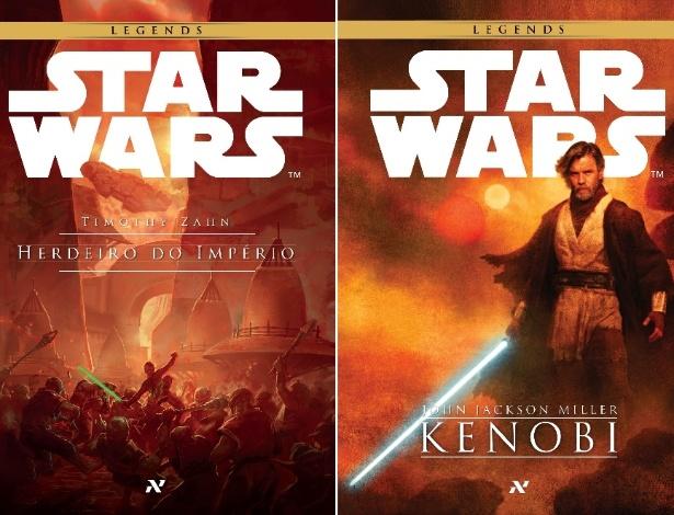 """Capas dos livros """"Herdeiro do Império"""" e """"Kenobi"""", que serão lançados pela Aleph - Divulgação"""