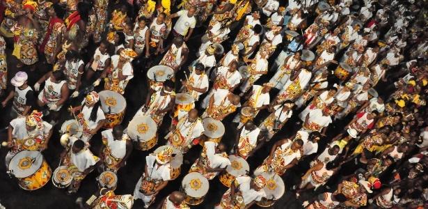 O bloco afro Ilê Ayê, em tradicional desfile no Carnaval de Salvador de 2013
