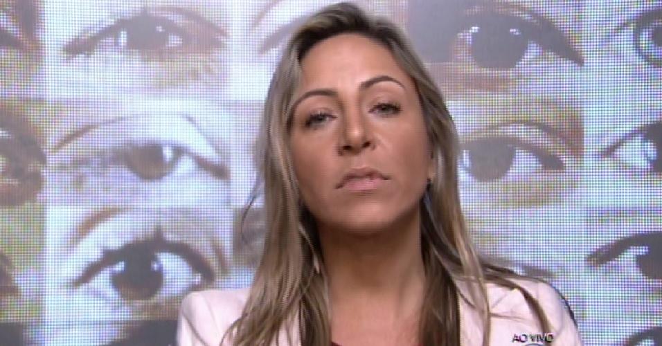 """25.jan.2015 - Francieli vota em Luan na formação do primeiro paredão do """"BBB15"""""""