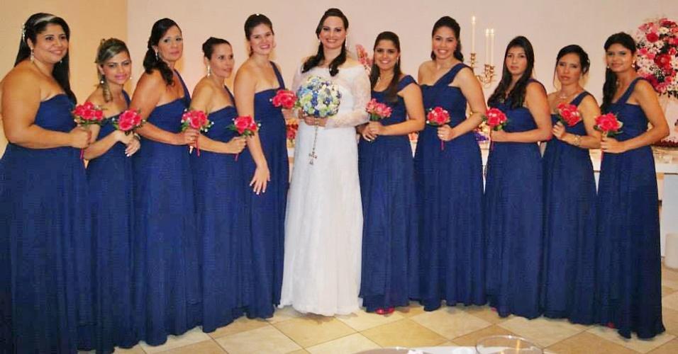Madrinhas casamento Paola de Oliveira - personagem matéria de casamento