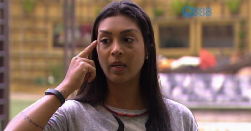 28.jan.2015 - Em conversa com Douglas, Amanda diz que já colocou botox