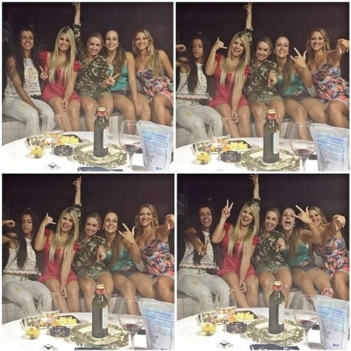 "28.jan.2015 - Fora do ""BBB15"", Julia posta foto com as amigas"