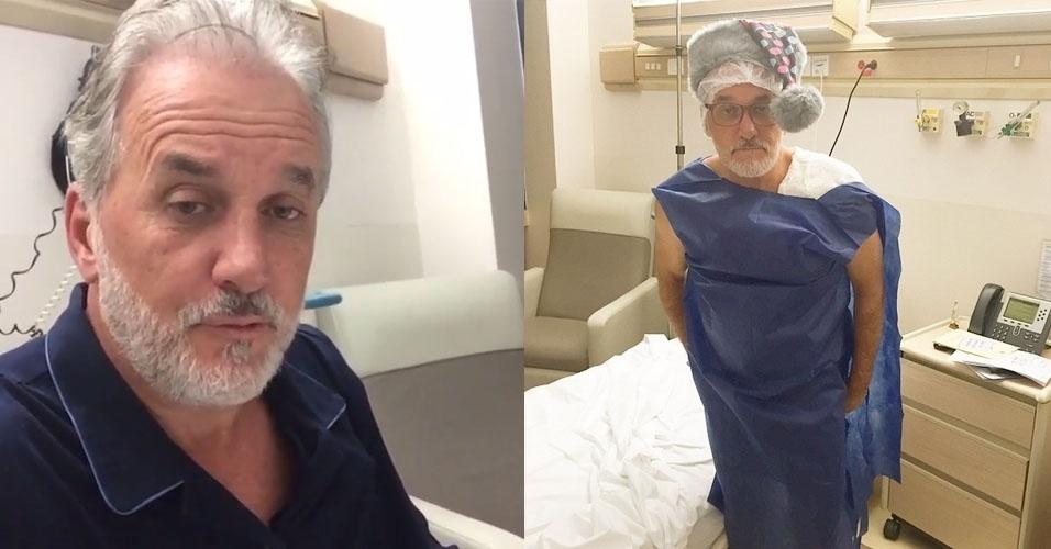 28.jan.2015 - Otavio Mesquita é internado no hospital Albert Einstein, em São Paulo, para realizar uma cirurgia no ombro, na manhã desta quarta-feira