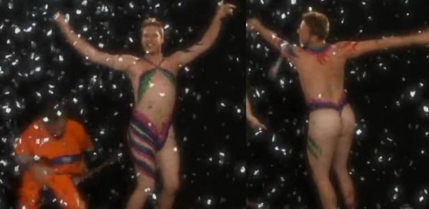 """De Globeleza, Fábio Porchat aparece nu e com o corpo pintado em vídeo do canal Fox para divulgar o """"Porta dos Fundos"""""""