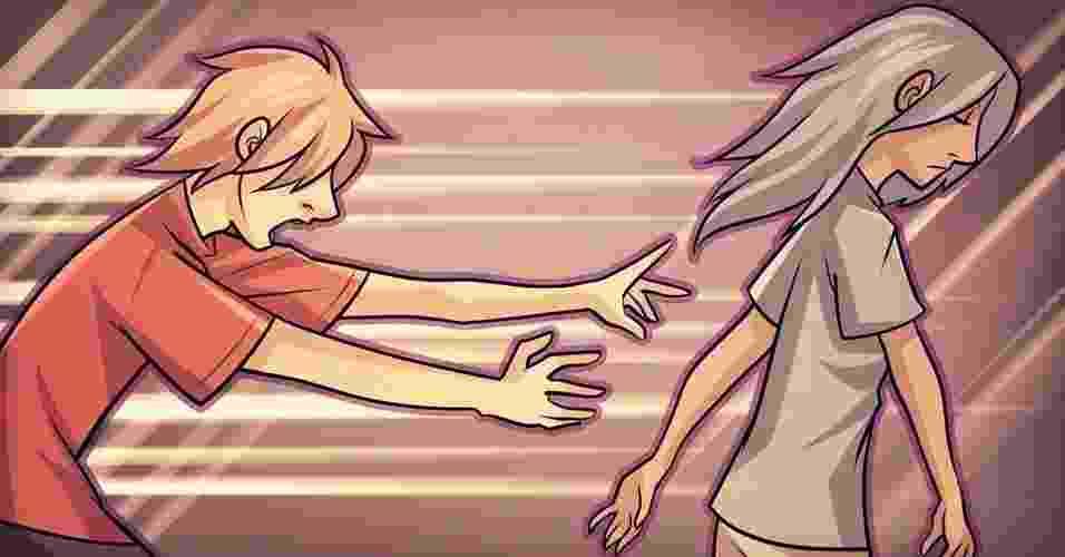 Os sinais de que um relacionamento não está indo bem podem ser ameaçadores para algumas pessoas, que rapidamente se desdobram em mil e uma ações para reverter o cenário. Algumas delas, entretanto, podem se mostrar mais danosas que saudáveis para se conseguir o que quer, conforme os exemplos a seguir. - Lumi Mae/UOL
