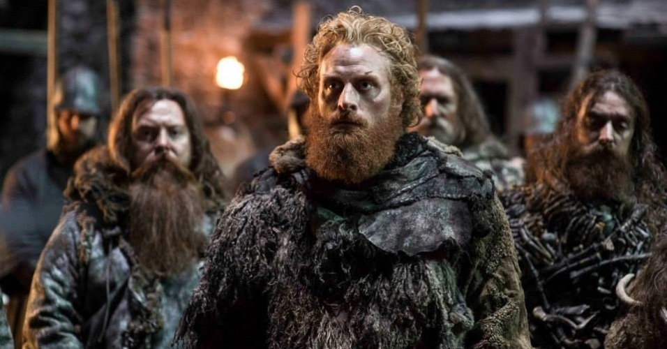 "Kristofer Hivju como Tormund Giantsbane em cena da 5ª de ""Game of Thrones"", que estreia dia 12 de abril"