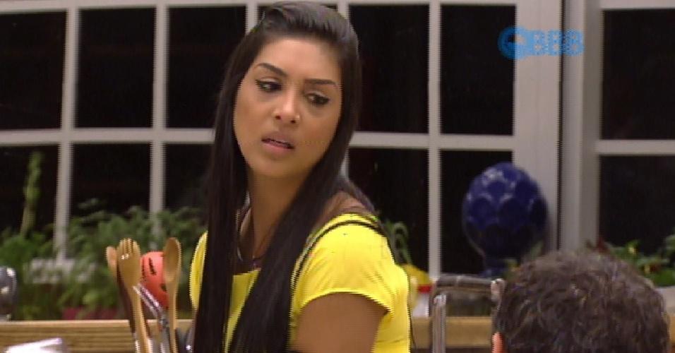 1.fev.2015 - Amanda diz que não sente mais vontade de ficar com Fernando