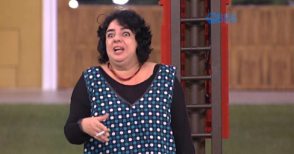02.fev.2015 - Imunidade antes do paredão gera bate-boca entre Mariza e Adrilles: